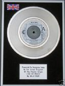 "BILLY FURY - 7"" Platinum Disc - LOVE OR MONEY"